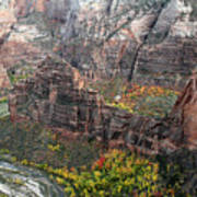 Angels Landing In Zion Art Print