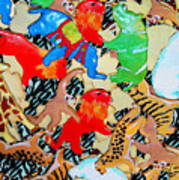 Animal Cookies Art Print