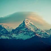 Annapurna South At Sunrise In Himalayas Artmif Photo Raimond Klavins Art Print