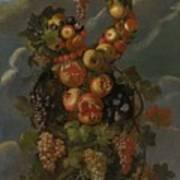Anthropomorphic Allegory Of Autumn Art Print