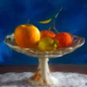 Apple, Lemon And Mandarins. Valencia. Spain Art Print