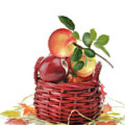 Apples In A Basket  Art Print