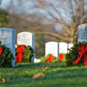 Arlington National Cemetery At Christmas Art Print
