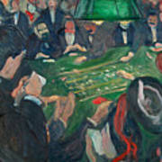 At The Roulette Table In Monte Carlo Art Print