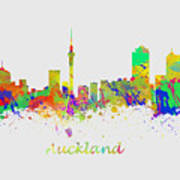 Auckland New Zealand Skyline Art Print
