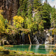 Autumn At Hanging Lake Waterfall - Glenwood Canyon Colorado Art Print