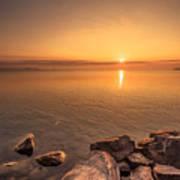 Sunrise At Sibbald Point Art Print