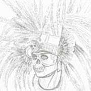 Aztec Warrior Art Print