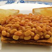 Baked Beans On Toast Art Print