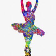 Ballet Dancer-colorful Art Print