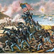 Battle Of Fort Wagner, 1863 Art Print