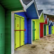 Beach Huts 2 Art Print