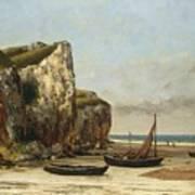 Beach In Normandy Art Print