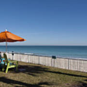 Beachland Boulevard At Vero Beach In Florida Art Print
