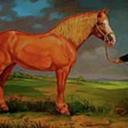 Belgian Draft Horse. Art Print