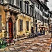 Bicycles In Florence Art Print