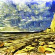 Birling Gap And Seven Sisters Art Art Print