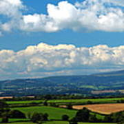 Black Mountains And Vale Of Usk Art Print