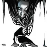 Black. Art Print