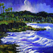 Blue Moon Over Laguna Beach Art Print