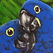2 Blue Art Print