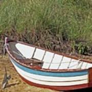 Boat And Anchor Art Print