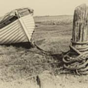 Boat At Porlock Weir. Art Print