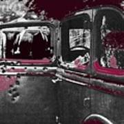 Bonnie And Clyde Death Car South Of Gibsland Toward Sailes Louisiana May 23 1933-2013 Art Print