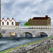 Bridge In Old Galway Ireland Art Print