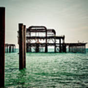 Brighton West Pier Art Print
