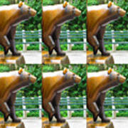 Bronze Statue Sculpture Of Bear Clapping Fineart Photography From Newyork Museum Usa Fineartamerica Art Print
