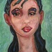 Brown Eyes Art Print