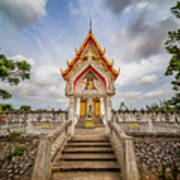 Buddhist Temple Art Print by Adrian Evans