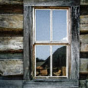 Cabin Window Art Print