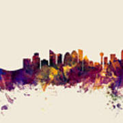 Calgary Canada Skyline Art Print