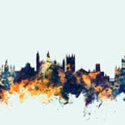 Cambridge England Skyline Art Print