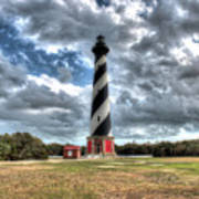 Cape Hatteras Lighthouse, Buxton, North Carolina Art Print