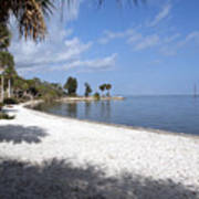 Castaway Point On The Indian River Lagoon With Coquina Rock Art Print