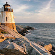 Castle Hill Lighthouse, Newport, Rhode Island Art Print