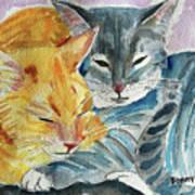 Kitty And Kat Art Print