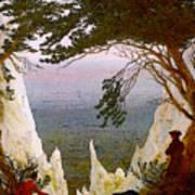 Chalk Cliffs On Rugen  Art Print