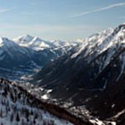 Chamonix Resort In The French Alps Art Print