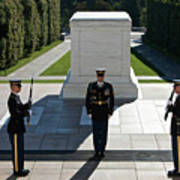 Changing Of Guard At Arlington National Print by Terry Moore