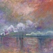 Charing Cross Bridge Print by Claude Monet