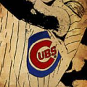 Chicago Cubs Baseball Team Vintage Card Art Print
