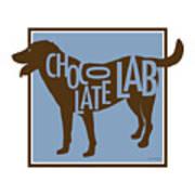 Chocolate Lab Art Print