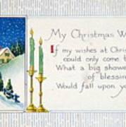 Christmas Postcard Art Print