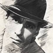 Christopher Lee, Vintage Actor Art Print