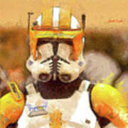 Clone Trooper Commander Art Print