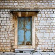 Closed Door Of An Old Chapel In Croatia Art Print